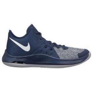 ナイキ メンズ バッシュ Nike Air Versitile 3 バスケットボール シューズ Midnight Navy/White/Wolf Grey|troishomme