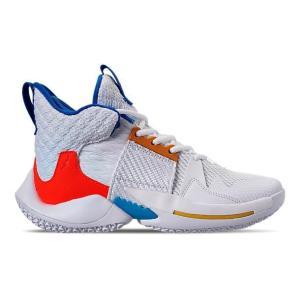 ジョーダン キッズ/レディース ホワイノット Jordan Why Not Zer0.2 GS バッシュ ミニバス White/Total Crimson/Tidal Blue troishomme