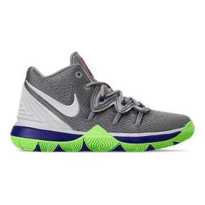 ナイキ キッズ/ジュニア カイリー5 バッシュ Nike Kyrie 5 IV Preschool PS ミニバス Wolf Grey/White/Lime Blast|troishomme