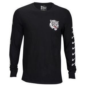 ナイキ メンズ ロンT Nike Graphic Long Sleeve T-Shirt 長袖 ロングスリーブ Tシャツ Black/White|troishomme