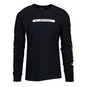 ナイキ メンズ ロンT Nike Graphic Long Sleeve T-Shirt 長袖 ロングスリーブ Tシャツ Black/Yellow|troishomme