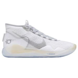 ナイキ メンズ バッシュ Nike Zoom KD12 ケビン デュラント White/Black/Wolf Grey|troishomme