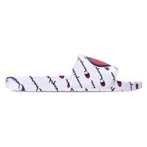 チャンピオン メンズ サンダル Champion IPO Repeat Slide Sandals スリッパ White|troishomme
