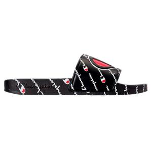 チャンピオン メンズ サンダル Champion IPO Repeat Slide Sandals スリッパ Black|troishomme