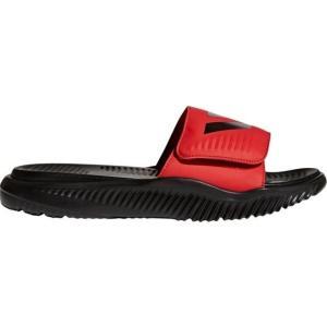 アディダス メンズ adidas Alphabounce Slides サンダル Black/Red スリッパ アルファバウンス|troishomme