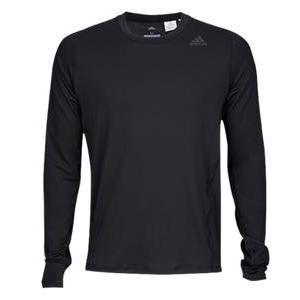 アディダス メンズ ロンT adidas ALPHASKIN L/S Fitted T-Shirt ロングスリーブ Tシャツ パフォーマンス Black|troishomme