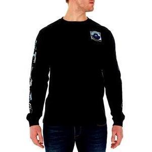 アディダス オリジナルス メンズ adidas Originals Graphic Long Sleeve T-Shirt Tシャツ 長袖 ロンT Black|troishomme