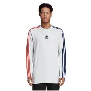 アディダス オリジナルス メンズ ロンT adidas Originals Long Sleeve Stripe T-Shirt ロングスリーブ Tシャツ Clear Grey/Collegiate Navy/Bold Red|troishomme