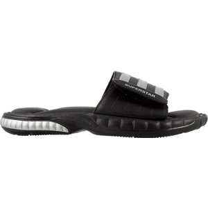 アディダス メンズ adidas SUPERSTAR 3G Slides サンダル スリッパ Black/Metallic Silver/Solid Grey