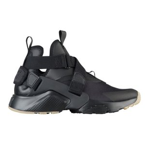 ナイキ レディース エアハラチシティ Nike Air Huarache City スニーカー Black/Dark Grey/Gum Light Brown|troishomme