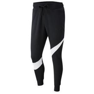 ナイキ メンズ Nike Large Swoosh Pants ジョガー スウェット ロングパンツ ビッグスウォッシュ Black/White/Black|troishomme