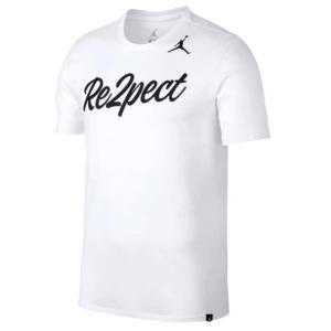 ジョーダン メンズ Tシャツ Jordan Re2pect Script T-Shirt White/Black 半袖 troishomme