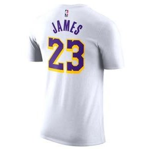 ナイキ メンズ Tシャツ Nike NBA Player Name & Number T-Shirt NBA Los Angeles Lakers レイカーズ Lebron james レブロンWhite|troishomme