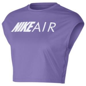 ナイキ レディース クロップ トップス Nike Air Crop Top Tシャツ Space Purple troishomme