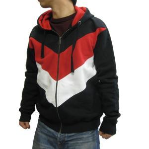 CORE3 Full-Zip Hoodieメンズ Black/White/Red パーカー フーディー troishomme