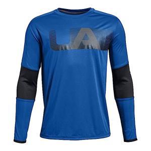 即納 アンダーアーマー ボーイズ/キッズ Under Armour UA Tech Long Sleeve T-Shirt 長袖 Tシャツ Royal|troishomme