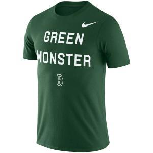 即納 ナイキ メンズ MLB Boston Red Sox Nike Local Phrase Performance T-Shirt Tシャツ 半袖 Green ボストンレッドソックス|troishomme