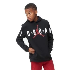 即納 ジョーダン ボーイズ/キッズ Jordan Jumpman Air Fleece Pullover パーカー Black/Gym Red/White プルオーバー フーディー|troishomme