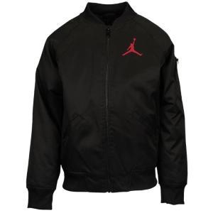 即納 ジョーダン キッズ Jordan Wings MA-1 Bomber Jacket ジャケット Black/Gym Red フライトジャケット|troishomme