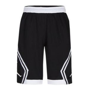 即納 ジョーダン ナイキ ボーイズ / キッズ Jordan Rise Diamond Shorts バスパン ショーツ ハーフパンツ Black/White|troishomme