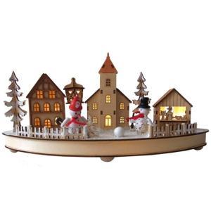 クリスマスツリーの隣に!かわいいスノーマンたちのクリスマスオブジェ。ハンドメイドの魅力がいっぱい。プ...