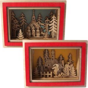 壁に掛けても棚に置いても絵になるクリスマスオーナメント。木の香りの漂う手作り。クリスマスプレゼントに...