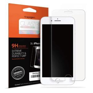 Spigen スマホフィルム iPhone8 iPhone7 対応 薄さ0.4mm 日本製旭硝子採用...