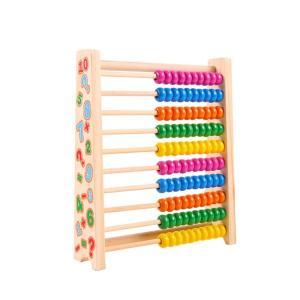 ★数の数え方を覚えるのに役立つ百玉そろばん。カラフルな木玉を動かして楽しく数を学べます。 ★横10列...