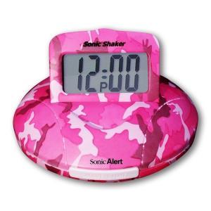 携帯型振動式目覚まし時計 ソニックシェーカー(Pink Camo)