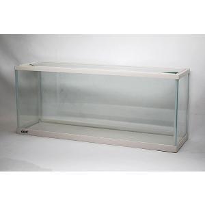 スリム&ワイドタイプ・幅60cmガラス水槽です。 フレームカラーはお洒落なホワイトです。