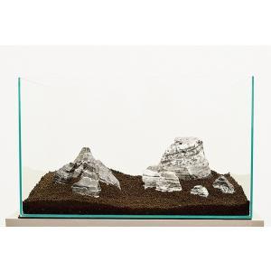 カミハタ アクアリウムロック レイアウトセット 黒賢石 45〜75cm水槽用・天然石セット 【水槽との同梱は不可】