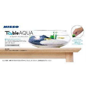 ニッソー テーブルアクア フラットポットSセット 熱帯魚・アクアリウム/水槽・アクアリウム/水槽セッ...