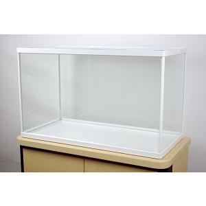 幅60x奥行き30x高さ36cmホワイトフレームガラス水槽です。 ホワイトカラーのフレーム+ガラスの...