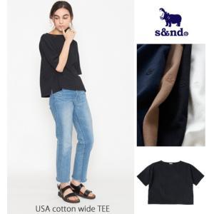 s&nd(セカンド)USAコットンワイドTシャツ/レディース USA cotton wide TEE Sd-160418|trova