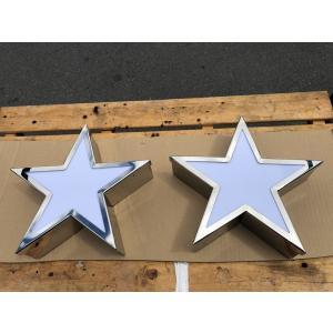 トラック 星 アンドン 飾り ステンレス デコトラ 2個セット スター オリジナル truckparts
