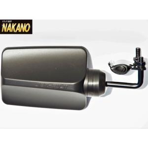 ◆条件付き送料無料◆バックショットミラー FUJI (445)小 黒 ロングステー 平面ミラー 高速 サブ 安全 長距離 魚屋 箱車 ダンプ|truckshop-nakano