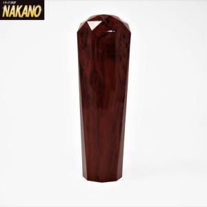 NAKANO ダイヤカットシフトノブ  150mm×約45mmΦ  ウッド/茶木目調) 10×1.25/12×1.25/12×1.75 トラック用|truckshop-nakano