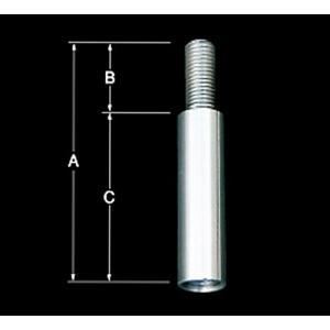 【キャッシュレス5%還元】ノブ延長 ノブ変換 同径エクステンション 70mm ノブを延ばす シフトノブを少しだけ延ばす|truckshop-nakano