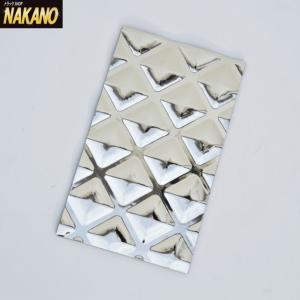 ◆条件付き送料無料◆175×300mm 重厚な輝きが映える 銀狼 泥よけ 銀メッキタイプ|truckshop-nakano