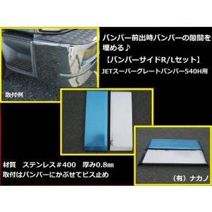 バンパーサイド 170mm 大型スーパーグレートバンパー540H用(JET製) サイドメクラ蓋 ステンレス|truckshop-nakano