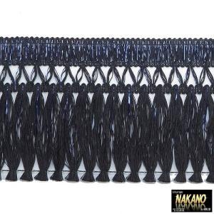 ◆条件付き送料無料◆昔ながらのフロントカーテン キララフレンジ ラメ黒/青 2.2m キラキラ光る トラック用カーテン |truckshop-nakano