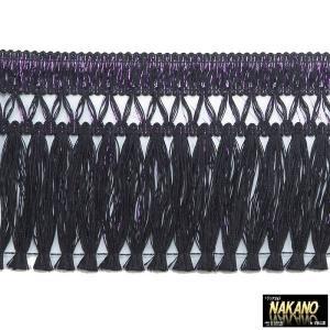 ◆条件付き送料無料◆昔ながらのフロントカーテン キララフレンジ ラメ黒/紫 2.2m キラキラ光る トラック用カーテン |truckshop-nakano