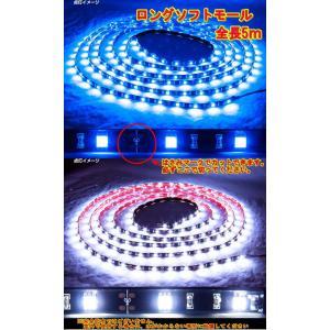 ◆条件付き送料無料◆LED ソフトモール24V 5m ホワイト/ブルー 好きな長さにカット出来て便利 truckshop-nakano