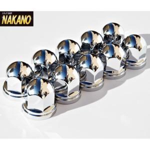 【キャッシュレス5%還元】ナットキャップ10ヶ入 ISO 33mm高さ51mm 定番の丸型ナットカバー ABS樹脂製クロームメッキ仕上げ 500376|truckshop-nakano
