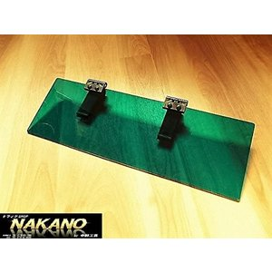 アクリル サンバイザー レトログリーン 4t〜大型車用用 日差しを抑え熱中症対策に 挟み込むだけ取付簡単|truckshop-nakano