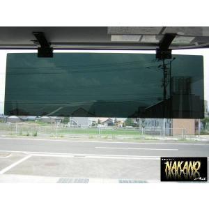 アクリル サンバイザー ブラックスモーク 4t〜大型車用 日差しを抑え熱中症対策に 挟み込むだけ取付簡単 |truckshop-nakano