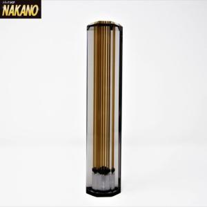 ◆条件付き送料無料◆8角スモークラインシフトノブ(スモーク/ゴールドライン)長さ200mm×40mm ネジ径 12×1.25/10×1.25共用|truckshop-nakano