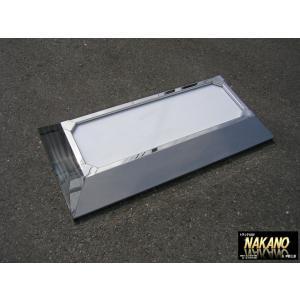 テーパーアンドン中 24V 鏡面ステンレス 看板灯 メインアンドン 社名看板灯|truckshop-nakano