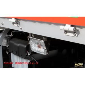 中間サイドウインカーランプ用 ウロコバイザー 30mm IKI(楕円型)/KNOT(台形型)|truckshop-nakano