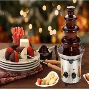 業務用のチョコレートファウンテン機械 (チョコレートフォンデュタワー)です。  家庭用としてもお使い...